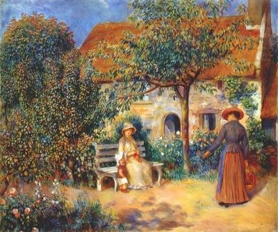 renoir garden scene in brittany c1886