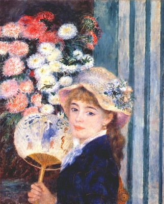 renoir girl with a fan c1881