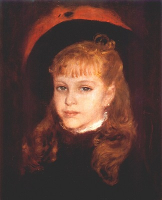 renoir girl with a pink feather