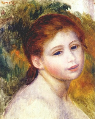 renoir head of a woman c1887