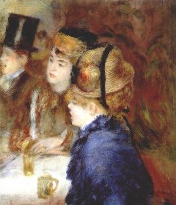 renoir in a cafe women drinking 1877