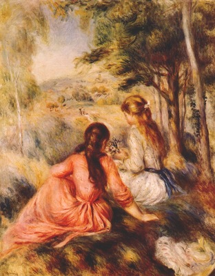 renoir in the meadow c1890