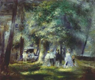 renoir in the park at saint cloud