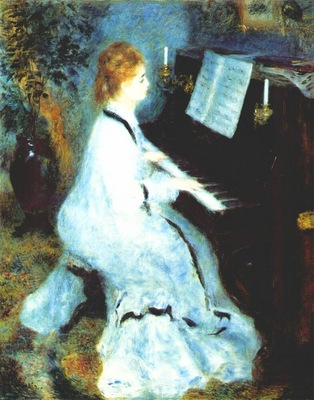renoir lady at the piano