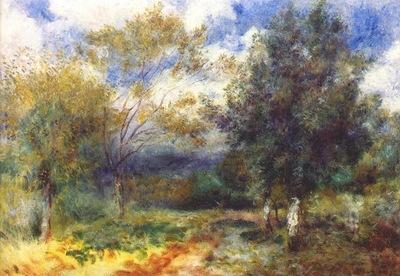 renoir landscape in the sun 1880