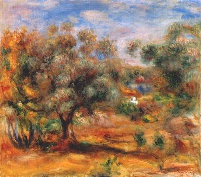 renoir landscape near cagnes 1909