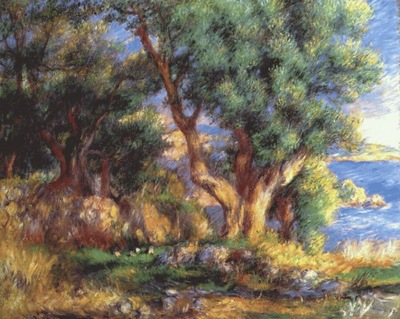 renoir landscape near menton
