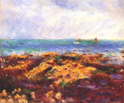 renoir low tide at yport