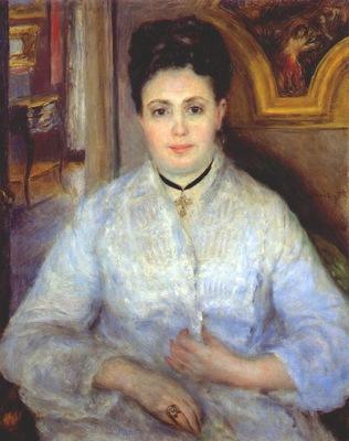 renoir madame chocquet in white