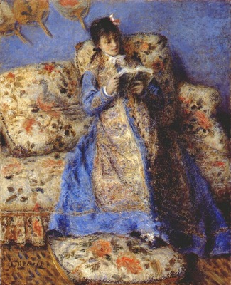 renoir madame monet reading c1872