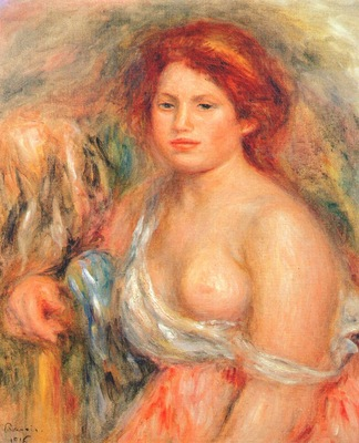 renoir model with bare breast