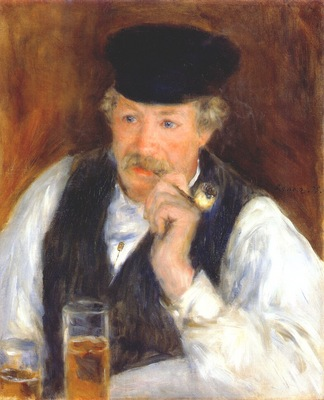 renoir monsieur fournaise man with a pipe