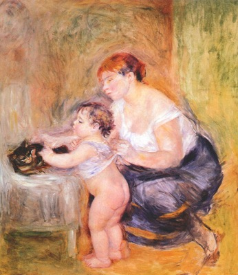 renoir mother and child c1895