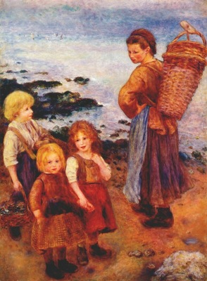 renoir mussel fishers at berneval