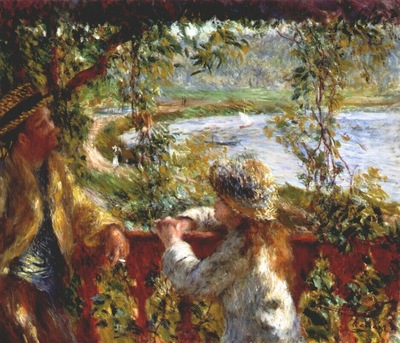 renoir near the lake c1879