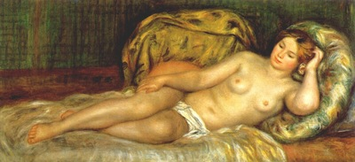renoir nude reclining on cushions