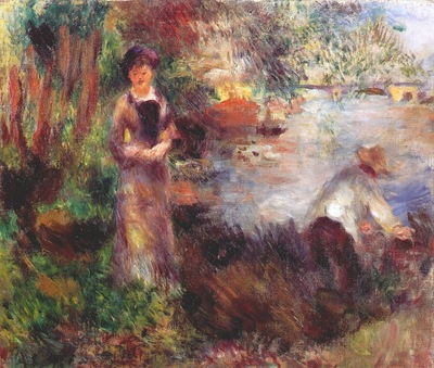 renoir on the banks of the seine at agenteuil 1878