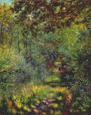 renoir path in the woods