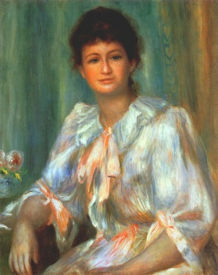 renoir portrait of a young woman in white