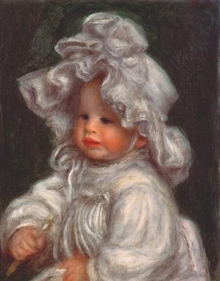 renoir portrait of claude renoir coco in flounced bonnet