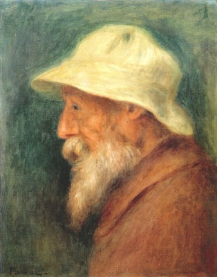 renoir portrait of the artist with a white hat