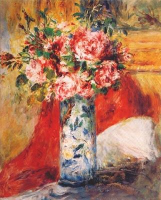 renoir roses in a vase c1876