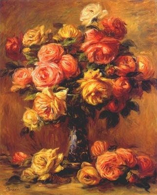 renoir roses in a vase c1910