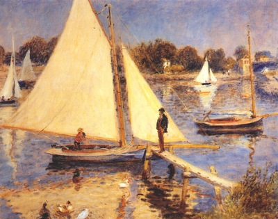 renoir sailboats at argenteuil