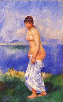 renoir standing bather