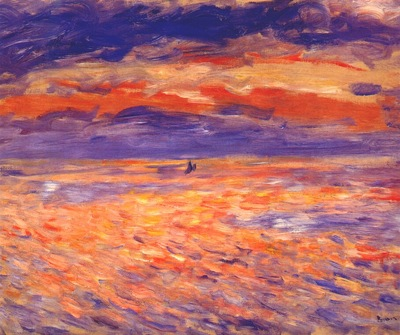 renoir sunset at sea