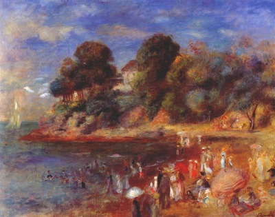 renoir the beach at pornic