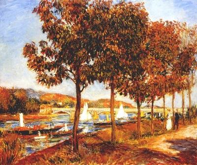 renoir the bridge at argenteuil
