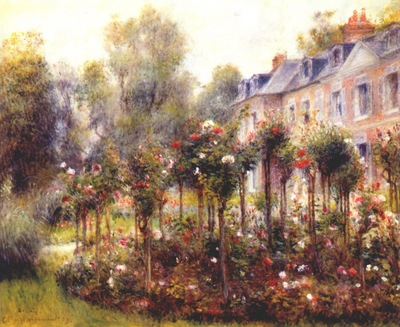 renoir the rose garden at wargemont