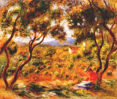 renoir the vines at cagnes c1908