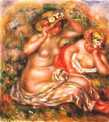 renoir two nudes wearing hats
