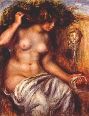 renoir woman at the fountain c1910