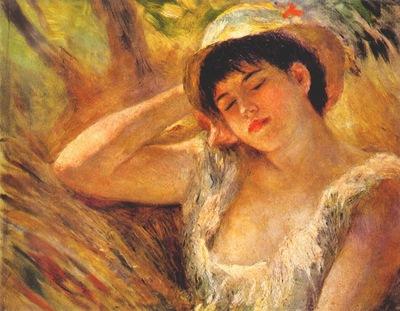 renoir woman dozing