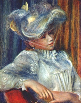 renoir woman in a hat