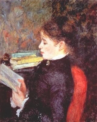 renoir woman reading