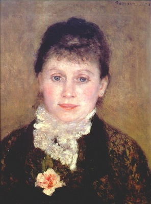 renoir woman with a white jabot