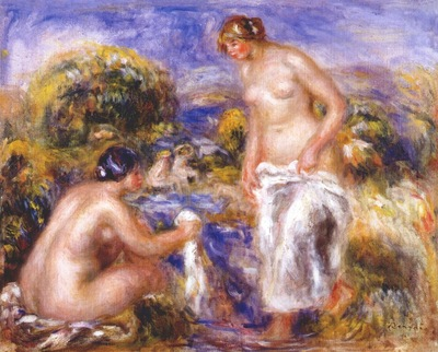 renoir women bathing c1915