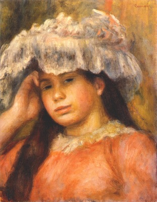 renoir young girl in a hat c1892
