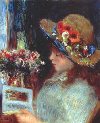 renoir young girl reading