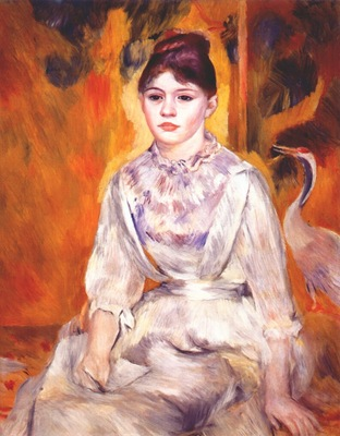 renoir young girl with a swan