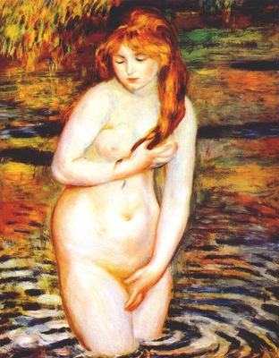 renoir young woman bathing