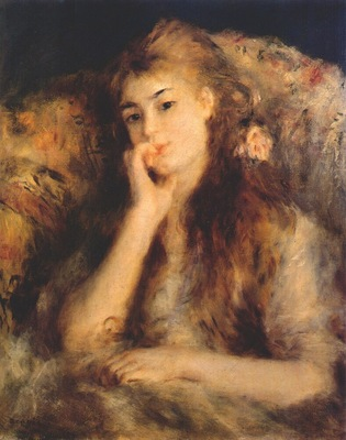 renoir young woman seated la pensee c1878
