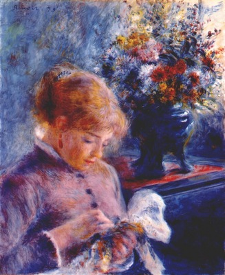 renoir young woman sewing