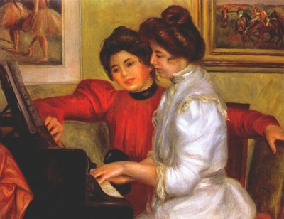 renoir yvonne and christine lerolle at the piano