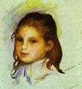 Pierre Auguste Renoir Girl with Brown Hair