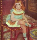 Pierre Auguste Renoir Portrait of Georgette Charpentier on a Chair